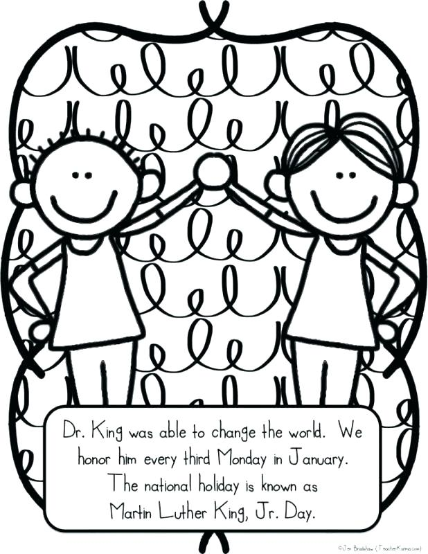 618x800 Mlk Coloring Pages Free