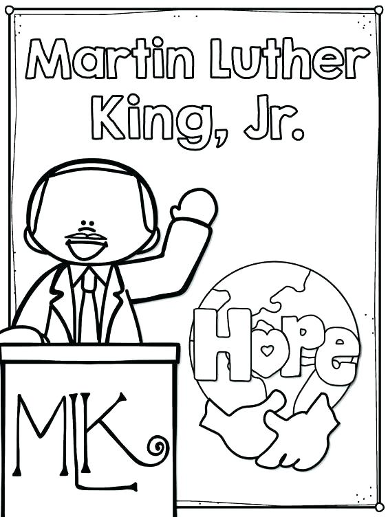 564x752 Coloring Page Martin King Martin King Coloring Page Mlk Coloring