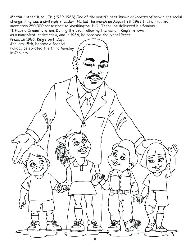 612x792 Coloring Pages For Martin Luther King Jr Martin King Coloring