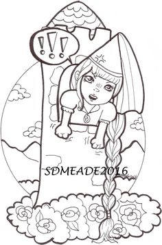 236x357 Digital Stamp Kitty Martini,dult Coloring Page, Kitty