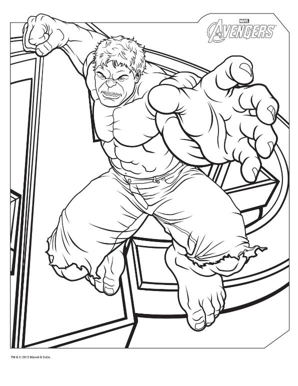 596x772 Kids N Coloring Pages Of Avengers