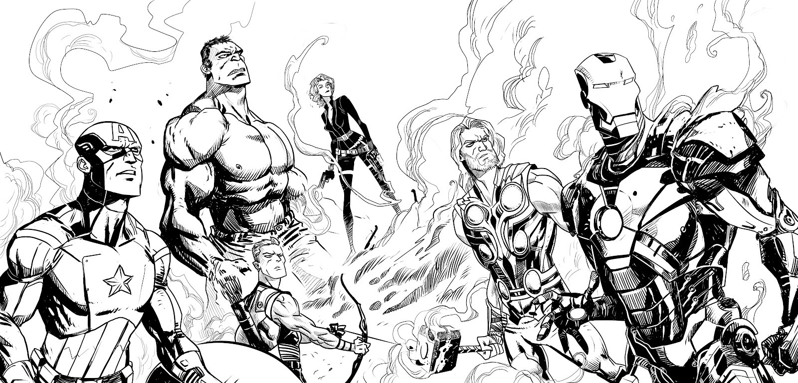 1600x768 Marvel Avengers Coloring Pages