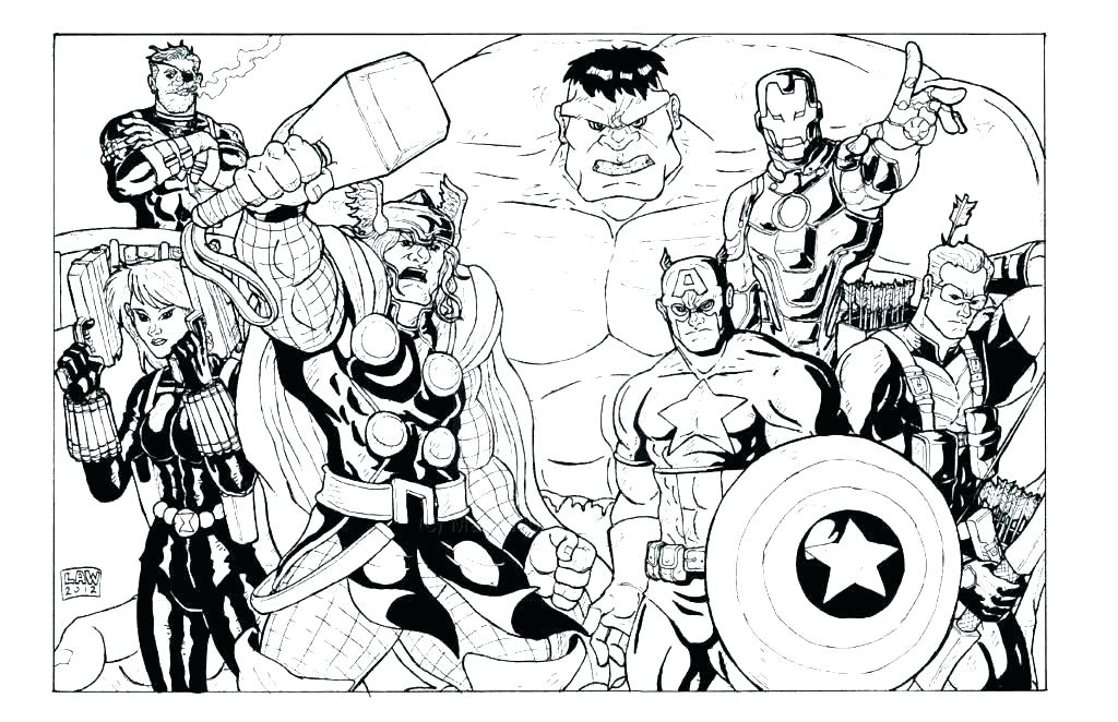 1024x662 Marvel Avengers Coloring Pages Avengers Coloring Book Plus Marvel