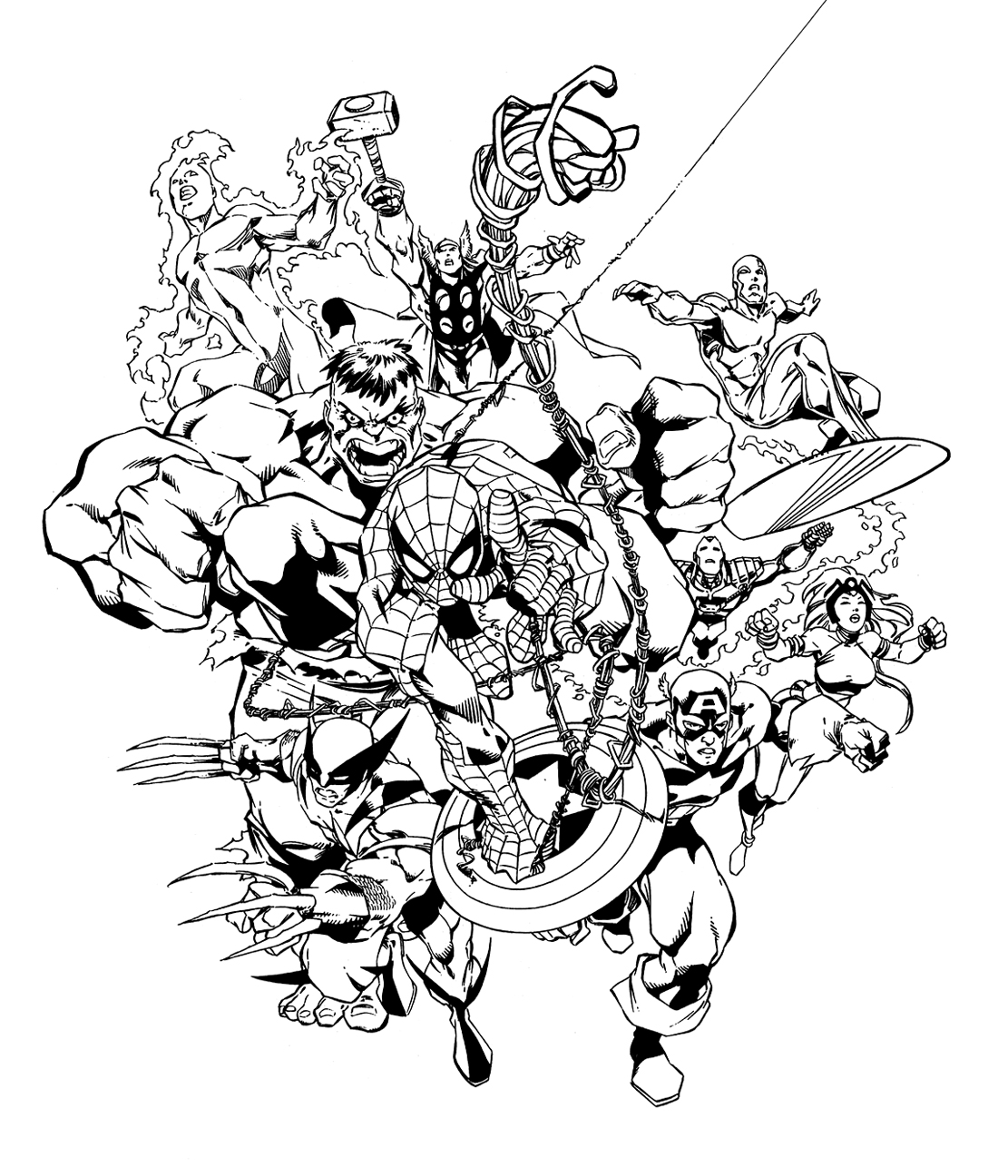 Marvel Avengers Coloring Pages at GetDrawings.com | Free for ...