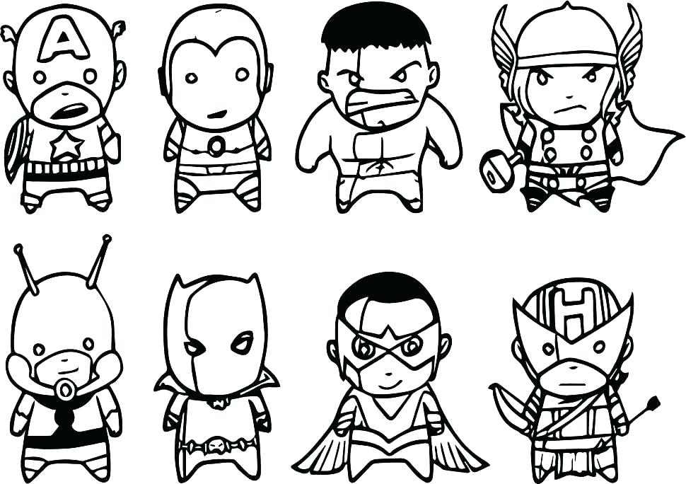 970x684 Avengers Coloring Page