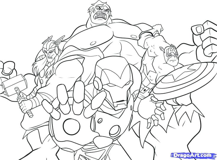 736x541 Avengers Coloring Pages Free