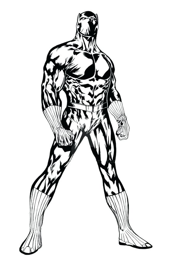 582x900 Black Panther Coloring Pages Colouring To Tiny Draw Print Marvel