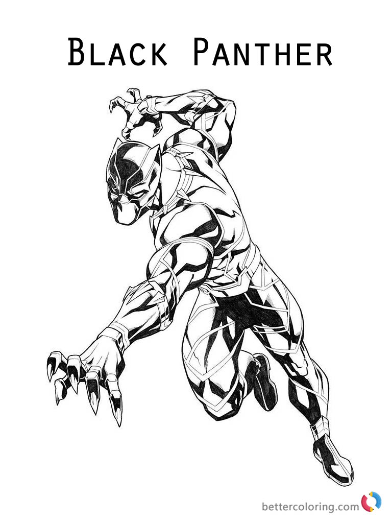 Marvel Black Panther Coloring Pages At Getdrawings Free Download