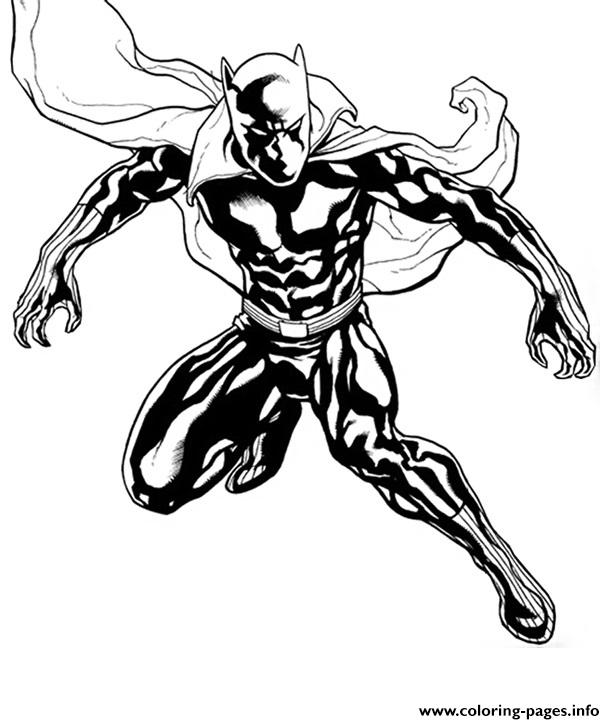 615x724 Black Panther Marvel Super Heroes Coloring Pages Printable