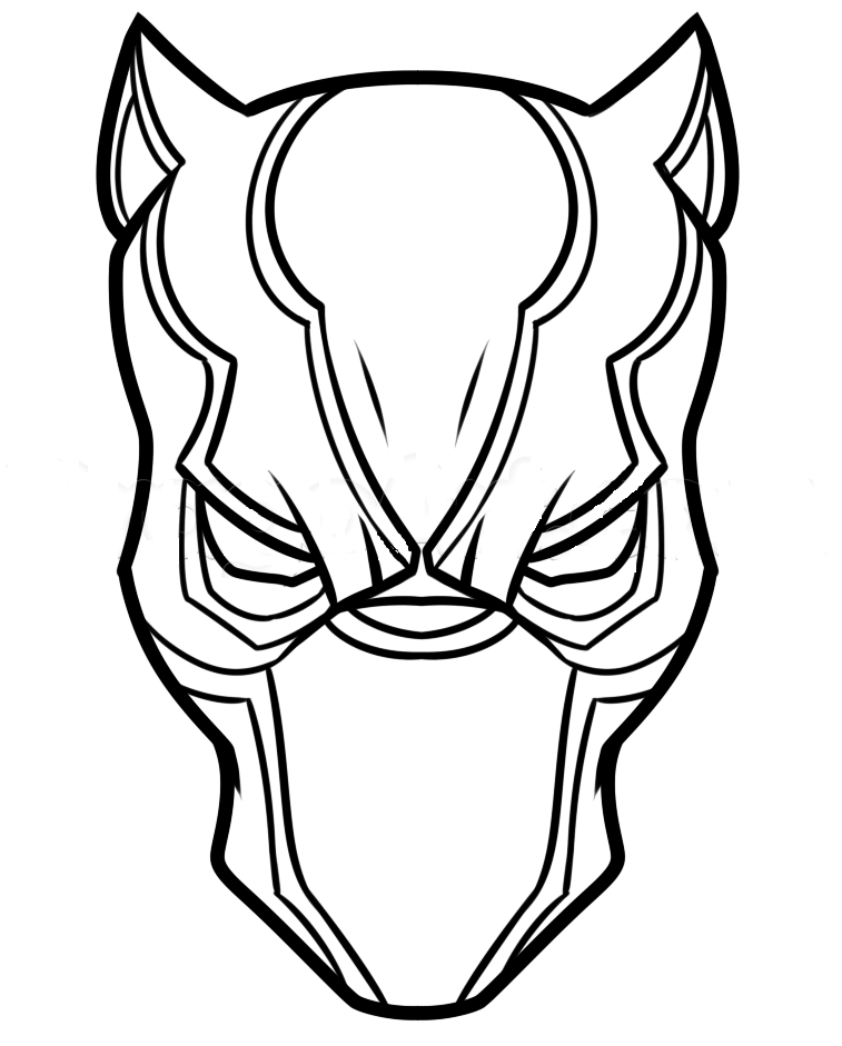 757x941 Free Printable Black Panther Coloring Pages
