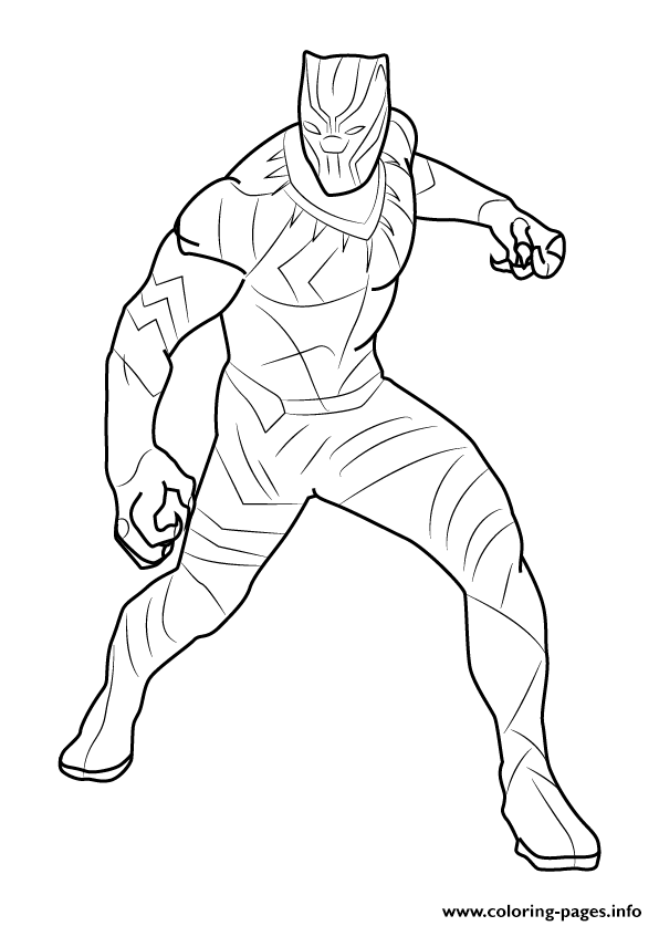 596x837 How To Draw Black Panther Coloring Pages Printable