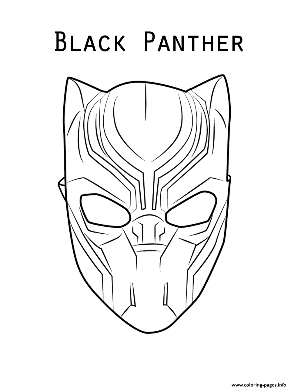 960x1280 Marvel Movie Black Panther Mask Coloring Pages Printable