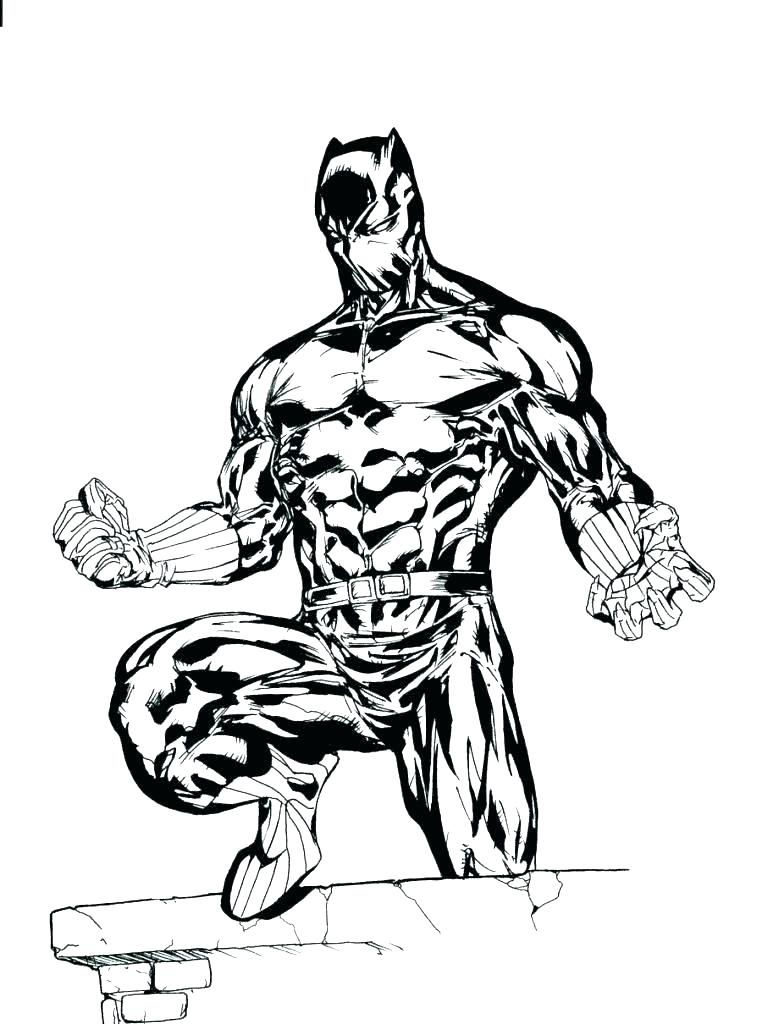 762x1024 Marvel Coloring Pages Black Panther