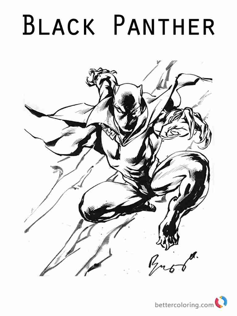 Marvel Black Panther Coloring Pages at GetDrawings | Free ...