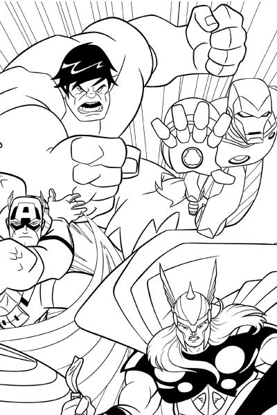 Marvel Characters Coloring Pages