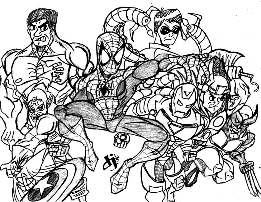 838x648 Marvel Coloring Pages Coloring Pages Kids