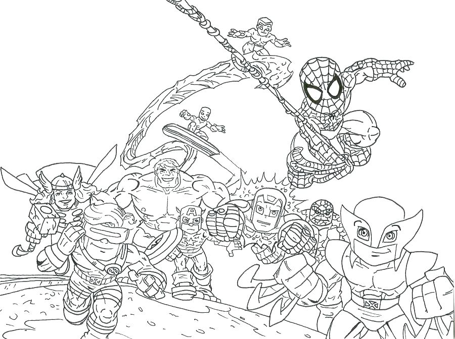 900x672 Marvel Super Heroes Coloring Pages Free Super Heroes Coloring