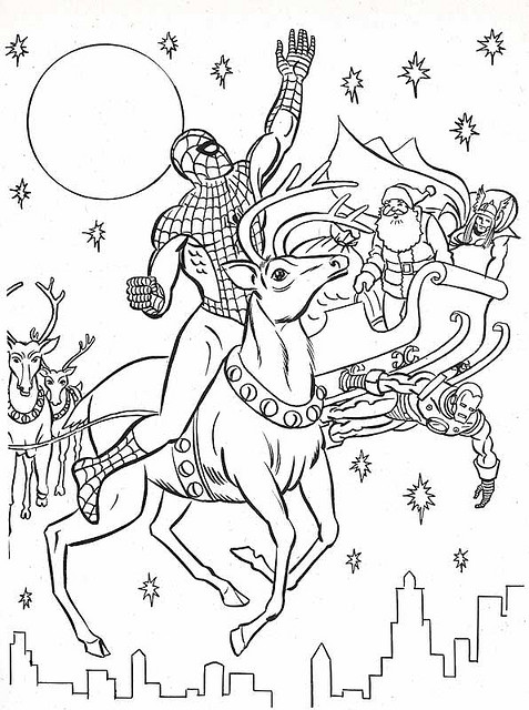 477x640 Marvel Superhero Coloring Pages