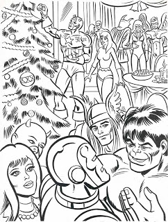 242x320 Neato Coolville Marvel Super Heroes' Christmas Coloring Book