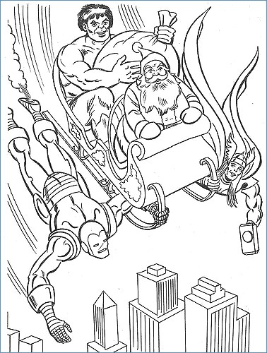 378x500 Super Hero Squad Marvel Coloring Pages
