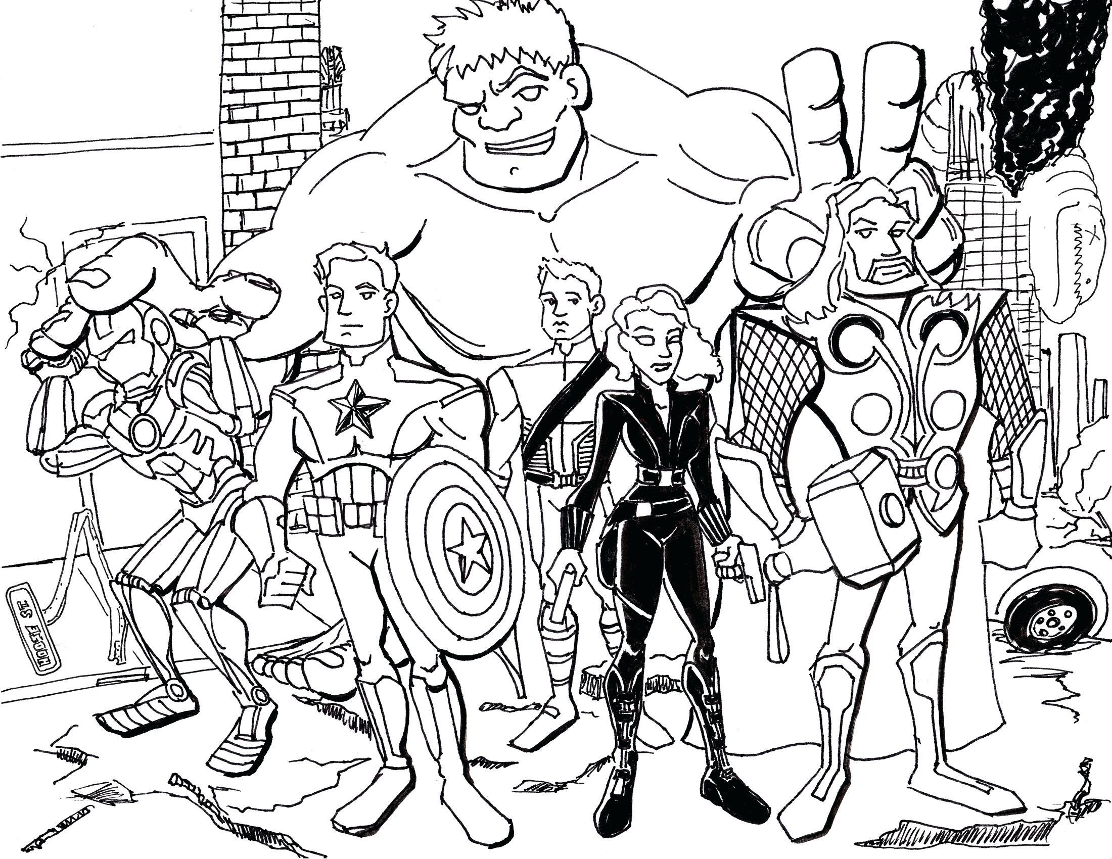2200x1700 Coloring Pages Thanksgiving Disney Free Printable Marvel Superhero