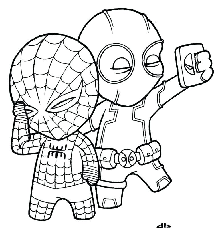 750x823 Deadpool Coloring Page For Kids Marvel Coloring Pages Surprising