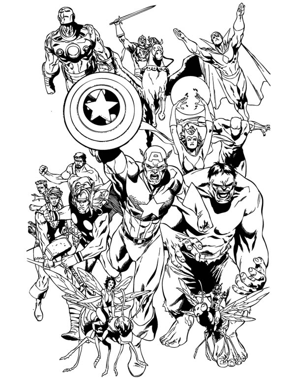 600x776 Marvel Coloring Pages
