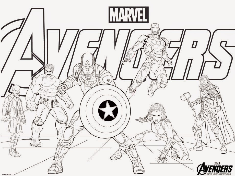 920x688 Marvel Colouring Pages