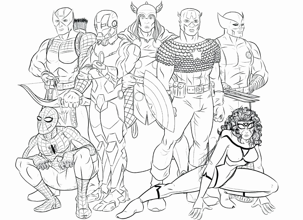 1024x745 Adult Marvel Coloring Pages Photos Marvel Coloring Books Also