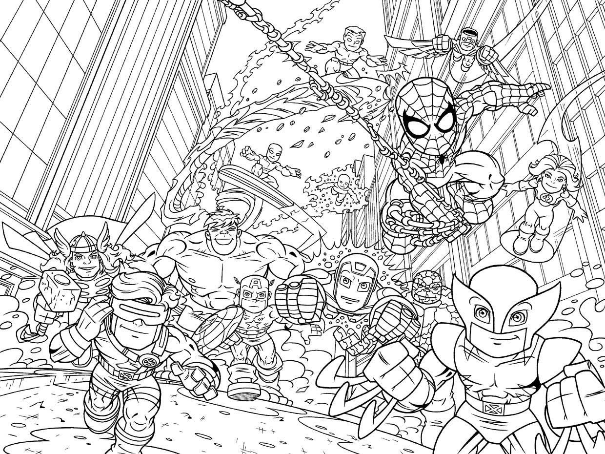 1240x930 Coloring Pages For Adults Marvel Superhero Squad Coloring Pages