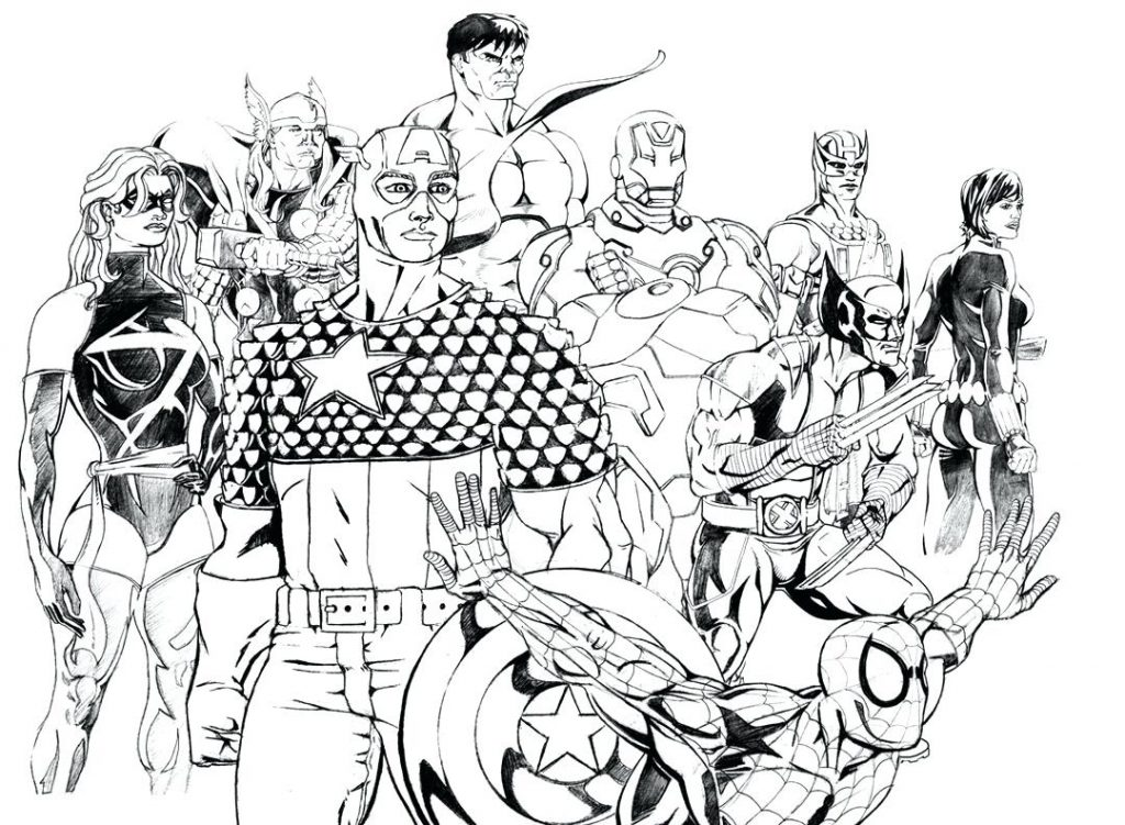 1024x751 Coloring Pages Marvel Coloring Pages Page Super Heroes