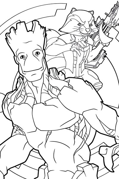400x600 Marvel Superhero Coloring Pages