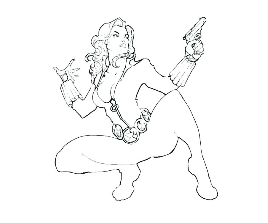 900x750 Printable Marvel Coloring Pages Black Widow Coloring Pages