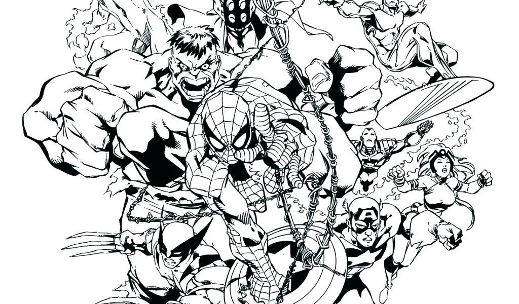1024x600 Superhero Coloring Book Plus Captain Marvel Superheroes Coloring