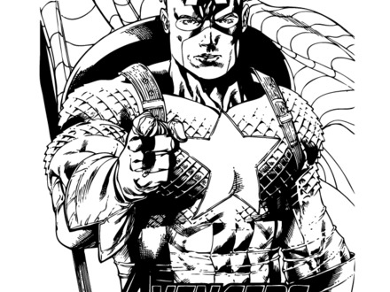 440x330 Marvel Comic Coloring Pages, Marvel Comic Captain America