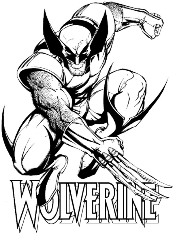 600x812 Free Printable Wolverine Coloring Pages For Kids