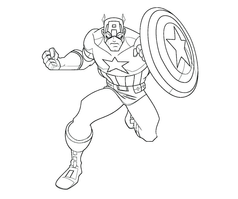 800x667 Free Printable Captain Coloring Pages Pics Of Marvel Marvel Comic