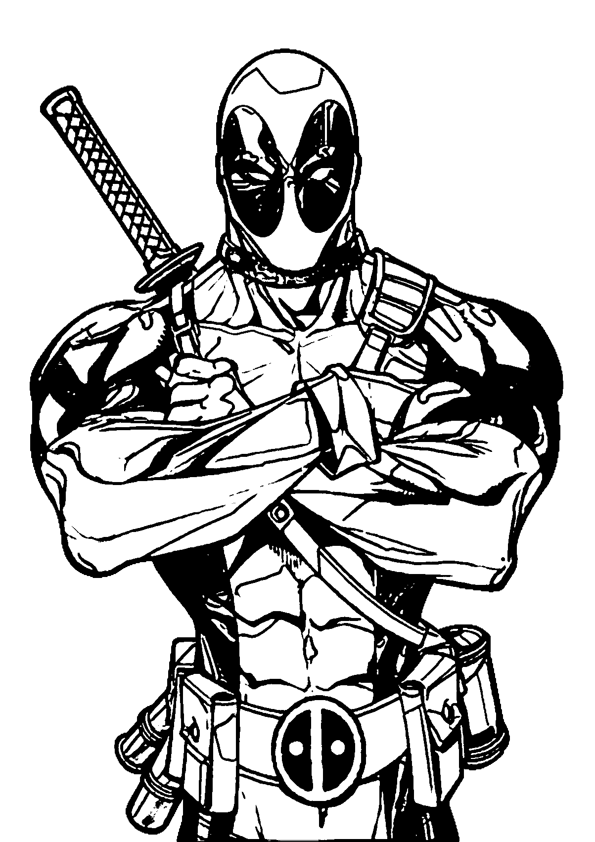 Marvel Deadpool Coloring Pages