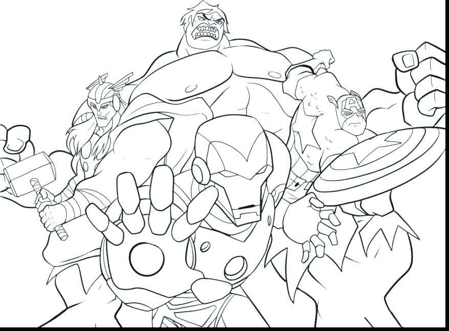 Marvel Heroes Coloring Pages