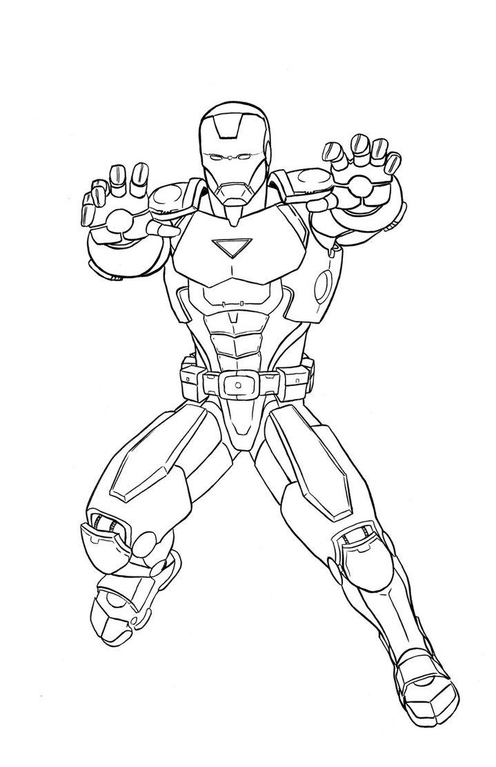 Marvel Iron Man Coloring Pages At GetDrawings