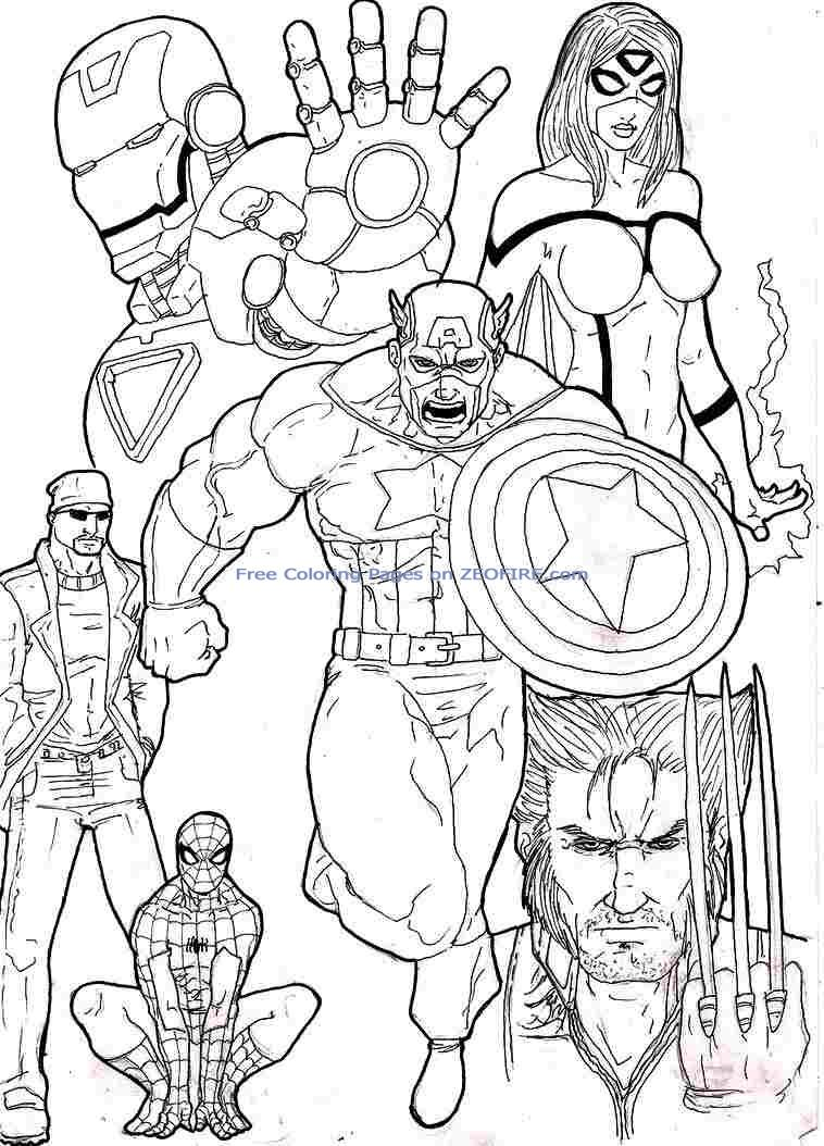 Marvel Printable Coloring Pages At Getdrawings Free Download