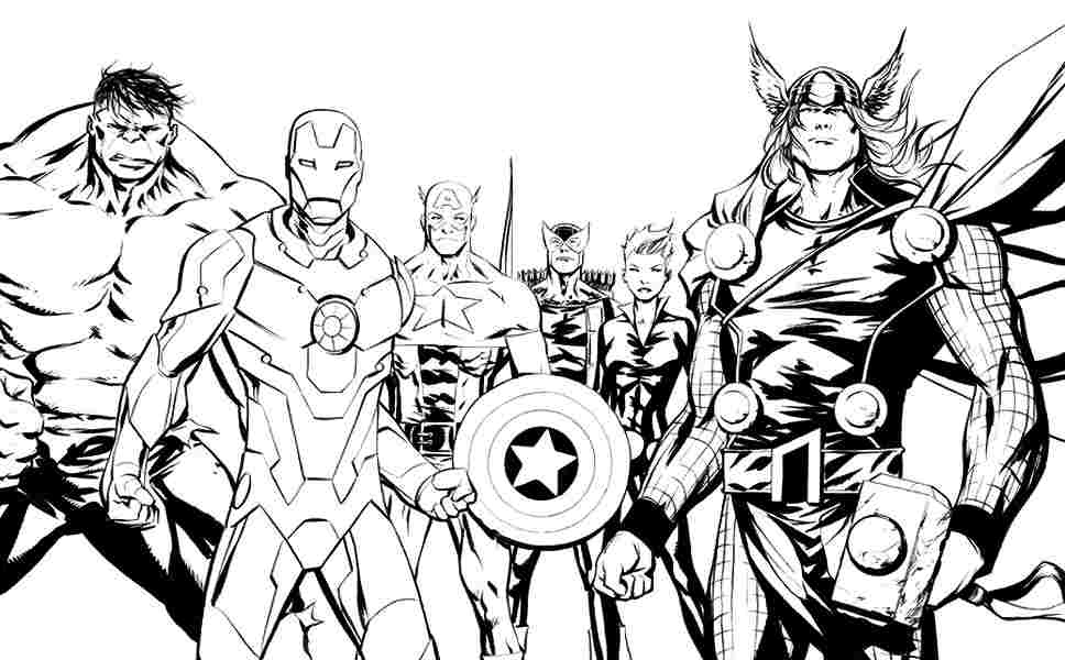 Marvel Superhero Coloring Pages Printable