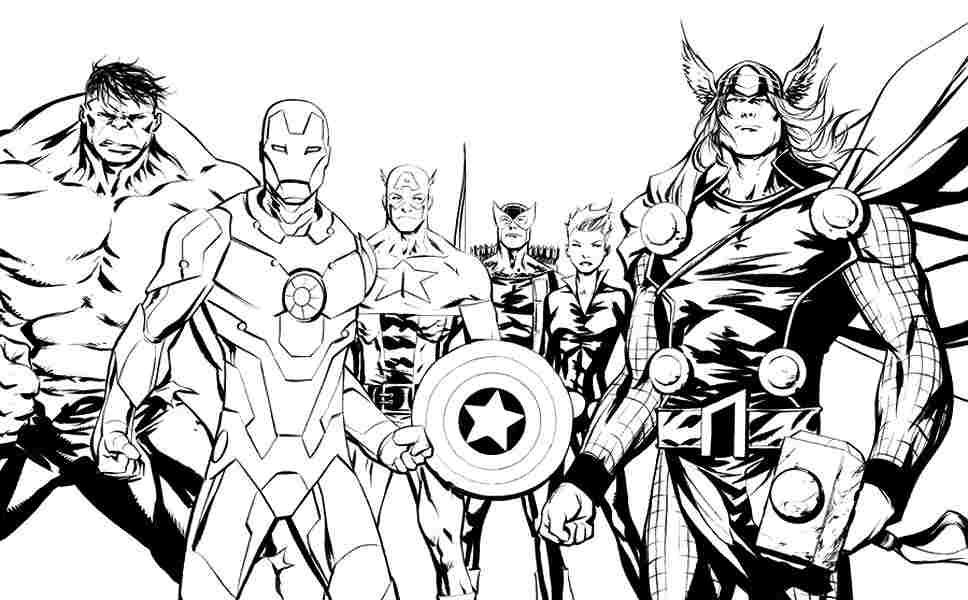 Marvel Superhero Coloring Pages Printable at GetDrawings.com ...