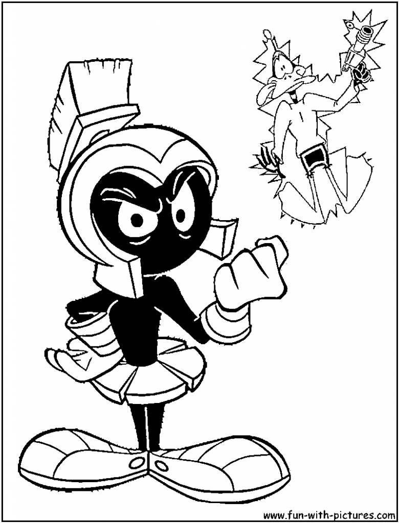 780x1024 Marvin The Martian Coloring Pages