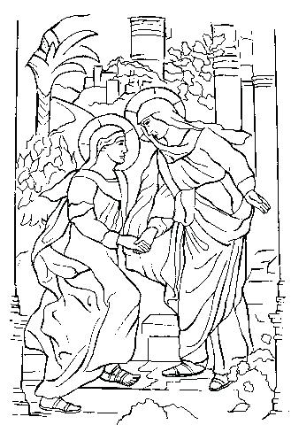 329x497 Mary Visits Elizabeth Coloring Page Coloring Book Mystery Coloring