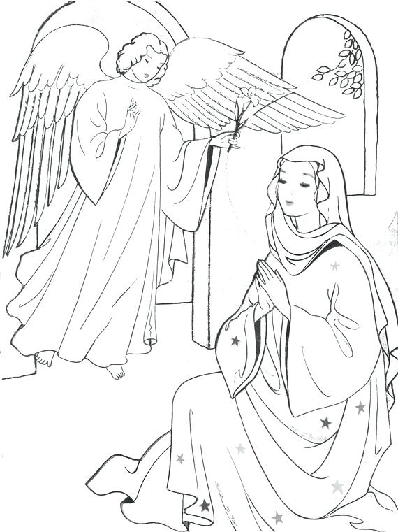570x761 Mary Visits Elizabeth Coloring Page Coloring Pages Angel Visits