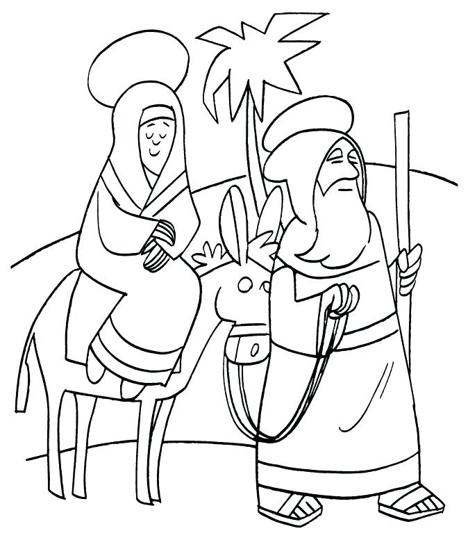 674x800 Mary Visits Elizabeth Coloring Page S Journey To Visit Her Cousin