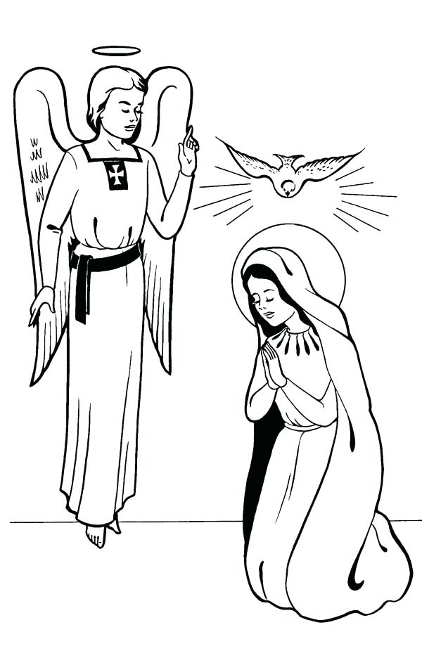 600x926 Old Fashioned Mary And Elizabeth Coloring Pages Model
