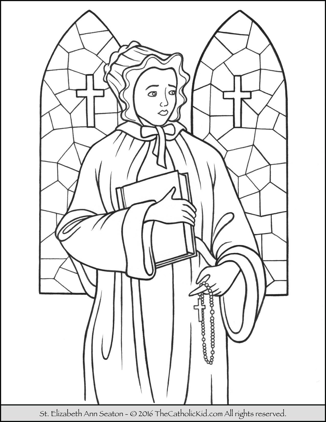 1275x1650 Saint Elizabeth Coloring Page