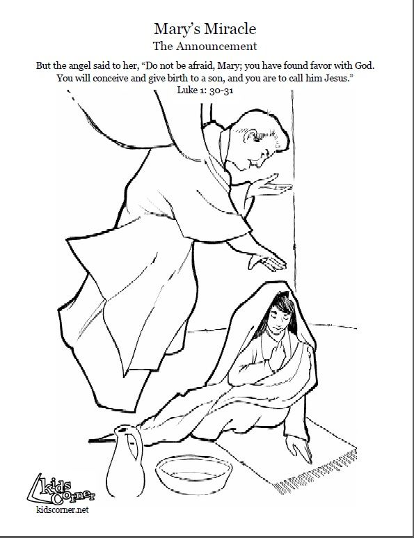 595x773 The Story Of Mary The Announcement